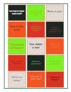 Comparatives Conversation Cards
