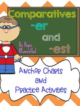 Comparatives -ER and -EST Word Work Pack