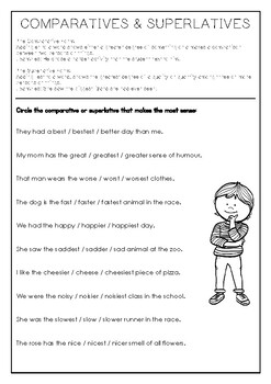 Comparatives & Superlatives Practice