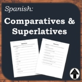 Comparatives Superlatives Spanish Practice Worksheet