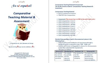 Comparatives  Teaching Material & Assessment