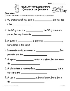 Comparatives and Superlatives 3rd Grade Common Core Lessons and Practice