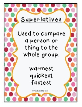 Comparatives and Superlatives *Sorting* Lesson Plans and More!