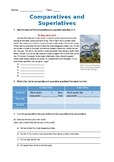 (Editable) Comparatives and Superlatives Worksheet (Jobs)
