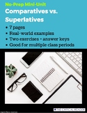 Comparatives vs. Superlatives: Lesson + 2 Worksheets