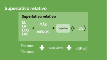 Comparativos y Superlativos (Comparatives and Superlatives) - Lecture