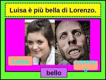 Comparazione (Comparison in Italian) power point