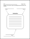 Compare 3 Items with lines Graphic Organizer