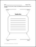 Compare 4 Items with lines Graphic Organizer