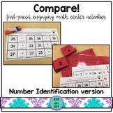 Compare!  a number identification game for math centers