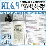 Compare Authors' Presentation of Events RI.6.9 | Frederick Douglass Article 6-18