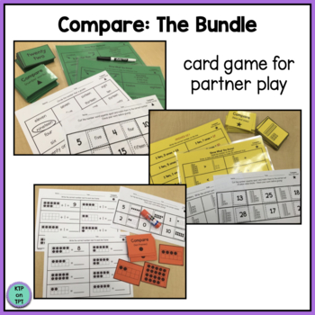 Compare! Bundle- 5 skill based games for math centers