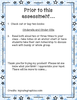 Compare/Contrast 2 Versions of the Same Story Assessment-Cinderella
