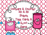 Compare&Contrast 2D&3D Shape Attribute TASK CARDS & Scoot