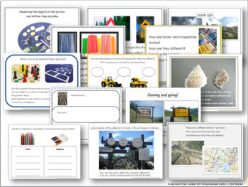 Compare and Contrast Picture Sets and Graphic Organizers