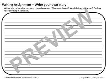 Compare & Contrast 5 Worksheet Assignments