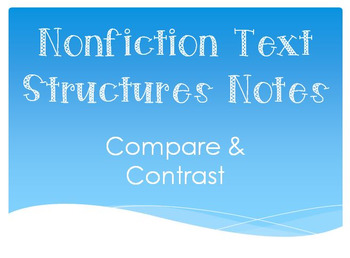 Compare & Contrast Anchor/Handout/Notes