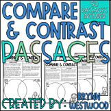 Compare and Contrast Passages-Animals, Insects, Adventures, & Amphibians