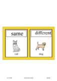 Compare/Contrast Animals Picture Cards Smarty Symbols