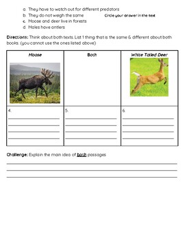 Compare & Contrast Assessment