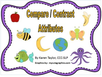 Compare Contrast Attributes, Language skills, Speech Language Therapy