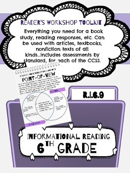 Compare/Contrast Author Point of view - Informational Reading Toolkit - RI.6.9