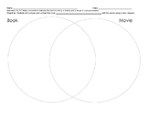 Compare Contrast Book to Movie Venn Diagram with standard and objective