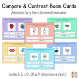 Compare & Contrast Boom Cards for Articulation Carry-Over: