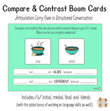 Compare & Contrast Boom Cards for Articulation Carry-Over: S