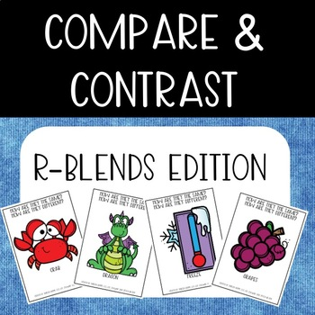 Compare & Contrast Card Game {R-Blends}