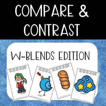Compare & Contrast Card Game {W-Blends}