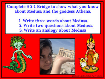Character Traits & Setting in Greek Mythology Power Point About Medusa & Athena