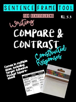 Compare/Contrast Characters Writing Tool