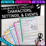Compare and Contrast Characters, Settings, and Events 5th Grade RL.5.3