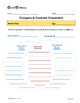 Compare & Contrast Characters for any Story-Venn Diagram &