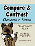 Compare & Contrast Characters in Stories {No Prep Printables}