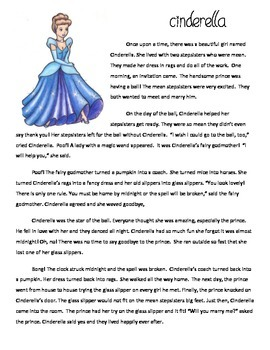 Compare & Contrast Cinderella Chinese, Egyptian: Reading Passages & Venn Diagram