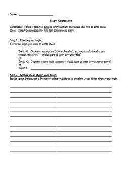 Compare Contrast Essay Assignment and Rubric for ESL or High School Students