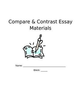 Compare & Contrast Essay Handouts