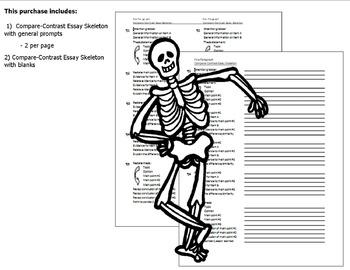 Compare Contrast Essay Outline (Skeleton)
