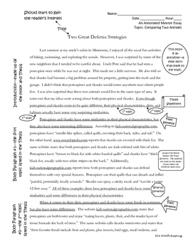 Compare-Contrast Essay Supplemental Resources Pack