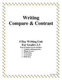 Compare Contrast Essay Writing For Grades 2-3