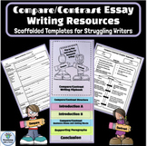 Compare Contrast Essay Writing Resources, Scaffolded Templates, Student Flipbook