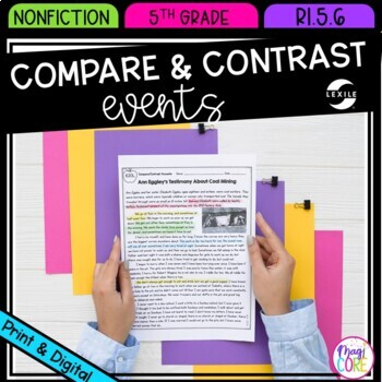 Compare & Contrast Events from Multiple Accounts- 5th Grade RI.5.6