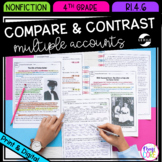 Compare & Contrast Firsthand & Secondhand Accounts- 4th Grade RI.4.6