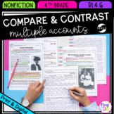 Compare & Contrast Multiple Accounts - 4th RI.4.6 - Printable & Digital - RI4.6