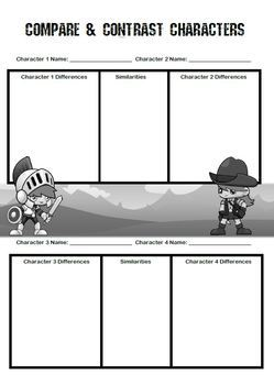 Compare & Contrast Graphic Organiser - Worksheet