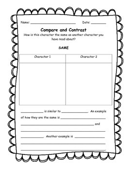 picture about Character Graphic Organizer Printable identify Evaluating People Impression Organizer Worksheets TpT