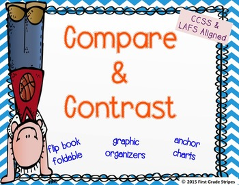 Compare & Contrast Graphic Organizers, Charts, & Flip Book Activity