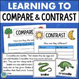 Compare & Contrast Graphic Organizers Reading Passages Com